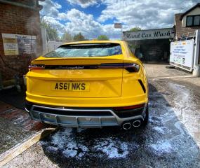 Yellow Lamborghini in for a Diamond Club Wash