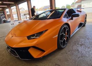 Orange Lamborghini Diamond Club Wash