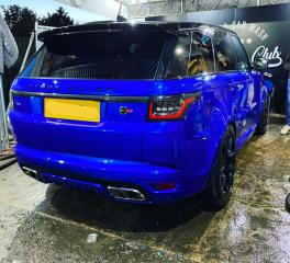 Blue Range Rover SVR Gold Club Hand Car Wash