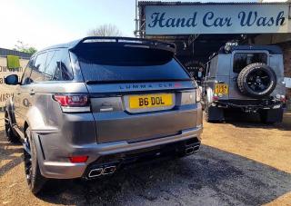 Metallic Grey Range Rover Sport Diamond Club Wash