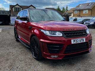 Metallic Red Range Rover Sport Finished Hand Car Wash & Polish